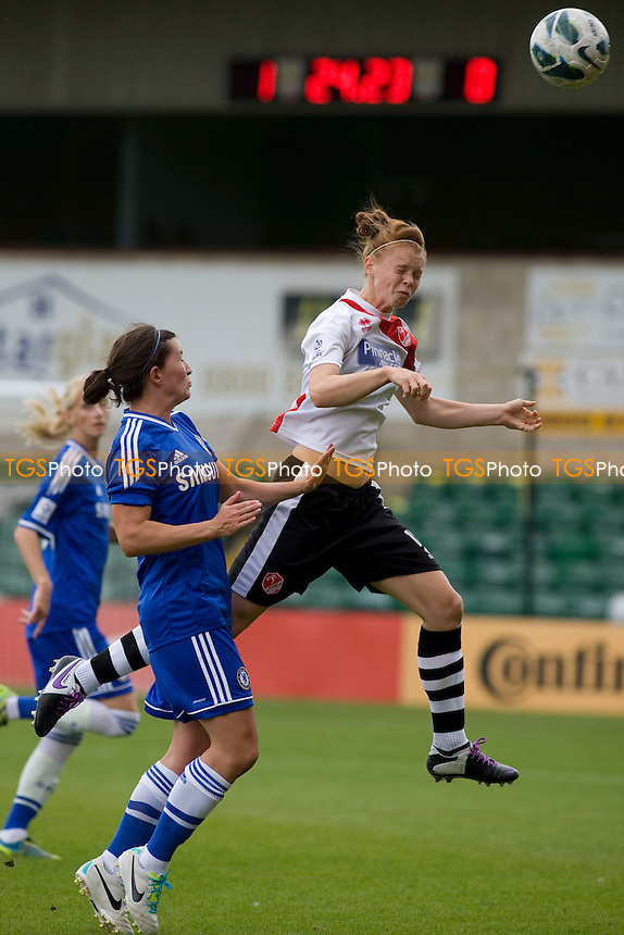 Meaghan Sergeant (Lincoln)<br />  - Lincoln Ladies vs Chelsea Ladies - FA Womens Super League Football at Sincil Bank Stadium, Lincoln City FC - 11/08/13 - MANDATORY CREDIT: Mark Hodsman/TGSPHOTO - Self billing applies where appropriate - 0845 094 6026 - contact@tgsphoto.co.uk - NO UNPAID USE