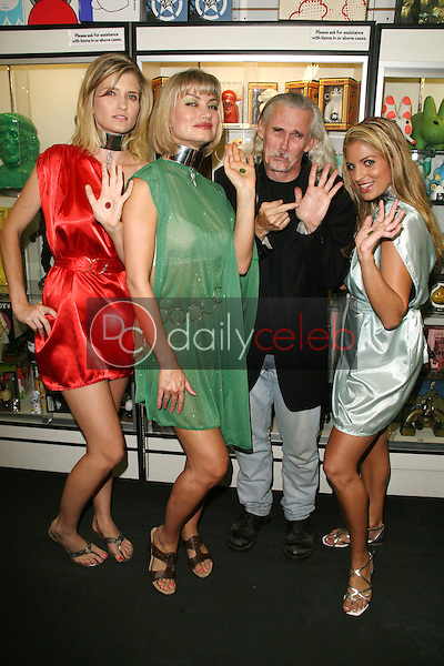 Ashkey King, Rena Riffel, Camden Toy and Bridgetta Tomarchio<br /> at the Girls and Corpses Magazine Summer Alien Autopsy Issue Party, Meltdown Comics, Hollywood, CA. 08-20-10<br /> David Edwards/DailyCeleb.com 818-249-4998