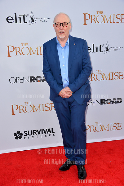 Terry George at the premiere for &quot;The Promise&quot; at the TCL Chinese Theatre, Hollywood. Los Angeles, USA 12 April  2017<br /> Picture: Paul Smith/Featureflash/SilverHub 0208 004 5359 sales@silverhubmedia.com