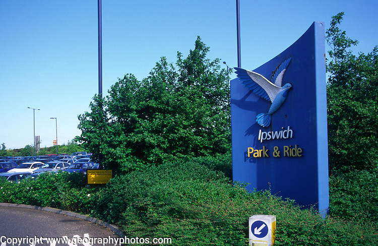 AT5BXA Ipswich park and Ride entrance Suffolk England