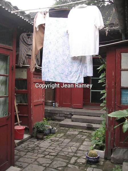 Houses in a Beijing hutong neighborhood are built around a common courtyard.