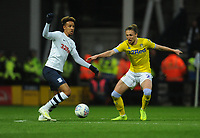 Preston North End's Callum Robinson under pressure from Leeds United's Luke Ayling<br /> <br /> Photographer Kevin Barnes/CameraSport<br /> <br /> The EFL Sky Bet Championship - Preston North End v Leeds United -Tuesday 9th April 2019 - Deepdale Stadium - Preston<br /> <br /> World Copyright &copy; 2019 CameraSport. All rights reserved. 43 Linden Ave. Countesthorpe. Leicester. England. LE8 5PG - Tel: +44 (0) 116 277 4147 - admin@camerasport.com - www.camerasport.com