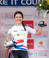 Picture by Alex Whitehead/SWpix.com - 13/05/2018 - British Cycling - HSBC UK National Women's Road Series - Lincoln Grand Prix - Rebecca Durrell of Storey Racing wins the series leaders jersey.