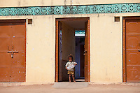 Indian child at home in Sawai Madhopur in Rajasthan, Northern India
