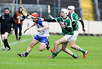 XXjob 06/05/2015 SPORT<br /> Limerick Kyle Hayes &amp; Waterford's Andy Molumby  in Action during their 2015 Electric Ireland Munster GAA Hurling Minor Championship.<br /> Picture  Credit Brian Gavin Press 22