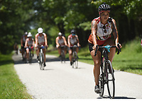 NWA Democrat-Gazette/FLIP PUTTHOFF <br /> &quot;Riders on the Trail of Tears bike ride pedal Tuesday June 20 2017 at Pea Ridge National Military Park. &quot;Remember the Renewal&quot; cyclists learned about the Trail of Tears route through the park and history of the Battle of Pea Ridge fought in March 1862. The ride began in Georgia and ended in Tahlequah, Okla.