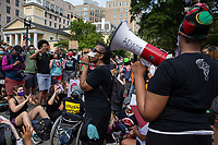 Disability advocates rallied a crowd outside of the White House during a march against police brutality and racism in Washington, D.C. on Saturday, June 6, 2020.<br /> Credit: Amanda Andrade-Rhoades / CNP/AdMedia