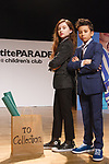 Model pose in outfits from the TO Collection during the petitePARADE fashion show at Children's Club in the Jacob Javits Center in New York City on February 25, 2018.