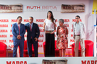 Spanish Jose Maria Odriozola, Juan Ignacio Gallardo, Ruth Beitia, and Alejandro Blanco during the award ceremony of Marca legend in the spanish olympic commitee headquarters in Madrid September 13, 2016. (ALTERPHOTOS/Rodrigo Jimenez) /NORTEPHOTO