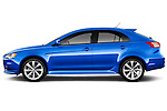 Car driver side profile view of a 2015 Mitsubishi Lancer  Sportback 5 Door Hatchback