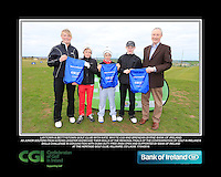 Laytown & Bettystown Golf Club boys With Kate Wright CGI and Brendan Byrne Bank of Ireland.<br /> Junior golfers from across Leinster practicing their skills at the regional finals of the Dubai Duty Free Irish Open Skills Challenge supported by Bank of Ireland at the Heritage Golf Club, Killinard, Co Laois. 2/04/2016.<br /> Picture: Golffile | Fran Caffrey<br /> <br /> <br /> All photo usage must carry mandatory copyright credit (© Golffile | Fran Caffrey)