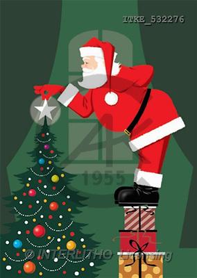 Isabella, CHRISTMAS SANTA, SNOWMAN, paintings(ITKE532276,#X#) Weihnachtsmänner, Schneemänner, Weihnachen, Papá Noel, muñecos de nieve, Navidad, illustrations, pinturas