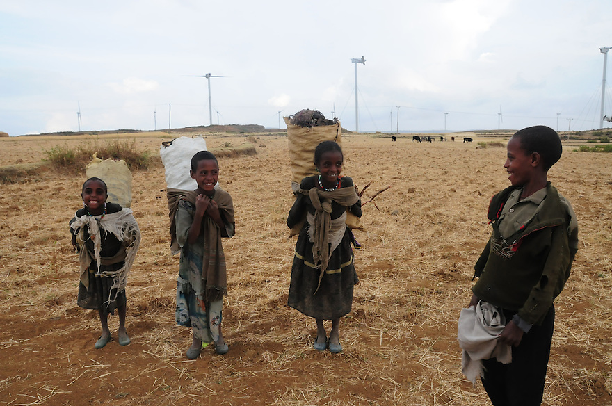 Windmills in the Tigray region of Ethiopia.