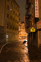 THIS IMAGE IS AVAILABLE EXCLUSIVELY FROM GETTY IMAGES.....Please search for image # 200524228-001 on www.gettyimages.com....Doyers Street at Night, Chinatown, New York City, New York State, USA