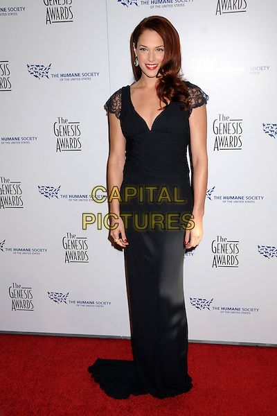 AMANDA RIGHETTI .24th Annual Genesis Awards - Arrivals held at the Beverly Hilton Hotel, Beverly Hills, California, USA, 20th March 2010..full length  black lace long maxi dress .CAP/ADM/BP.©Byron Purvis/AdMedia/Capital Pictures.