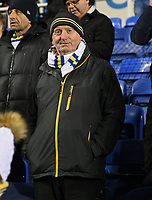 Leeds United fan<br /> <br /> Photographer David Horton/CameraSport<br /> <br /> The EFL Sky Bet Championship - Reading v Leeds United - Tuesday 12th March 2019 - Madejski Stadium - Reading<br /> <br /> World Copyright &copy; 2019 CameraSport. All rights reserved. 43 Linden Ave. Countesthorpe. Leicester. England. LE8 5PG - Tel: +44 (0) 116 277 4147 - admin@camerasport.com - www.camerasport.com