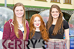 Ailbhe Connell, Lauren McCarthy and Niamh O'Connell Camp  at the KDYS youth day in the INEC on Sunday