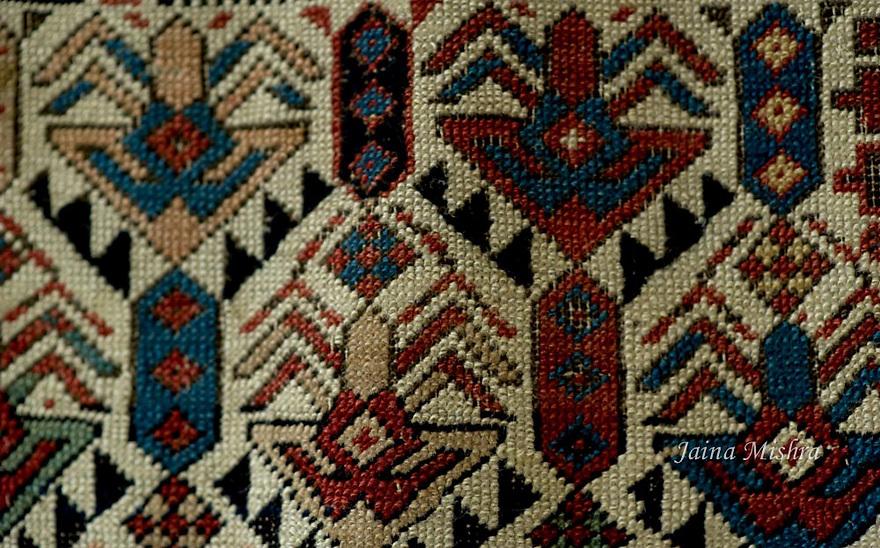 ANTIQUE SHIRVAN PERSIAN RUG