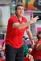 Mexico's coach Sergio Valdeolmillos during 2014 FIBA Basketball World Cup Round of 16 match.September 6,2014.(ALTERPHOTOS/Acero)