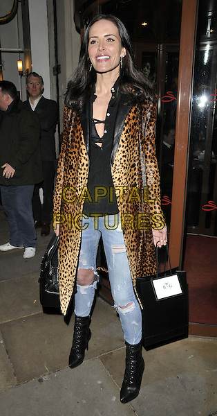 LONDON, ENGLAND - FEBRUARY 25: Sophie Anderton attends the Total Mink ethically produced mink fur eyelashes new line launch party, Sanctum Soho Hotel, Warwick St., on Tuesday February 25, 2014 in London, England, UK.<br /> CAP/CAN<br /> &copy;Can Nguyen/Capital Pictures