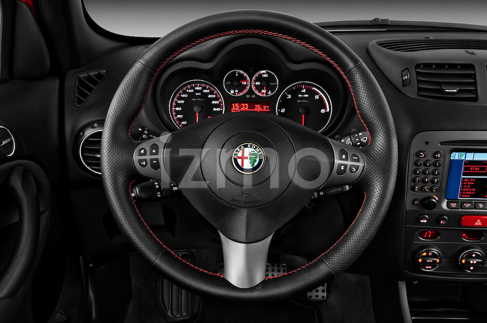 Steering wheel view of a 2000 - 2010 Alfa Romeo 147 5 Door Ducati Corse Hatchback.