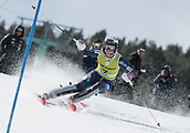 17th March 2018, Àvet Slope, Soldeu, Andorra; FIS Alpine Ski European Cup, Slalom Ladies Finals; 7 FORNI Josephine from FRA  during the Giant Slalom Final