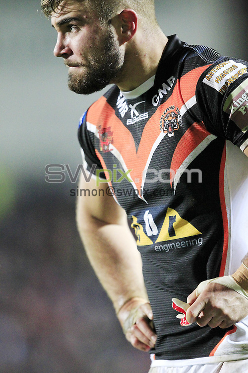 PICTURE BY CHRIS MANGNALL /SWPIX.COM...<br /> Rugby League - Super League - St Helens Saints v Castleford Tigers   - Langtree Park Stadium, , England  - 04/03/16<br /> Castleford's Mike McMeeken