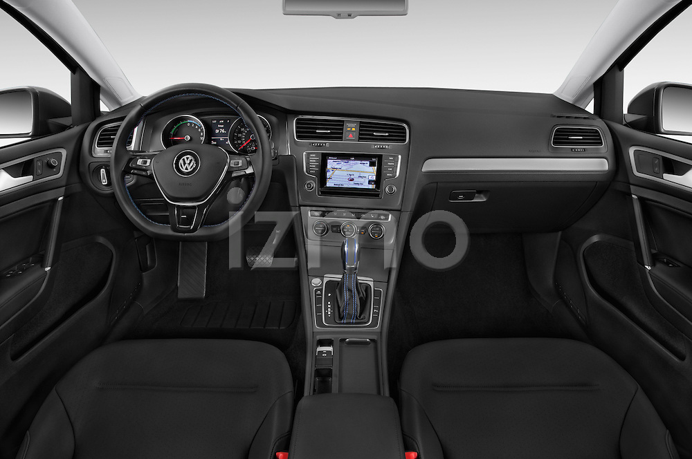 Stock photo of straight dashboard view of a 2015 Volkswagen Beetle 1.8T Conv. auto 2 Door Convertible