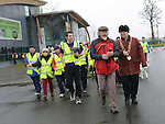 Mayor of Drogheda Paul Bell and Sean McCormack walk leader for Operation Transformation national Walks lead the Operation Transformation national Walk in Drogheda. Photo: Colin Bell/Perssphotos.ie