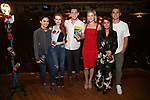"from the cast of ""Riverdale"" visits Broadway's ""Bandstand"" at the Bernard Jacobs Theate on May 19, 2017 in New York City."
