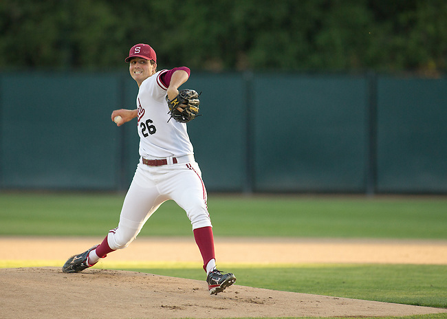 Stanford, CA - April 19, 2013.  Stanford University Baseball vs. Arizona at Sunken Diamond.  Stanford wins 4-3..