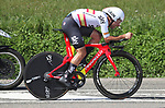 Spanish National Champion Jonathan Castroviejo (ESP) Team Sky in action during Stage 16 of the La Vuelta 2018, an individual time trial running 32km from Santillana del Mar to Torrelavega, Spain. 11th September 2018.                    Picture: Unipublic/Photogomezsport | Cyclefile<br /> <br /> <br /> All photos usage must carry mandatory copyright credit (&copy; Cyclefile | Unipublic/Photogomezsport)