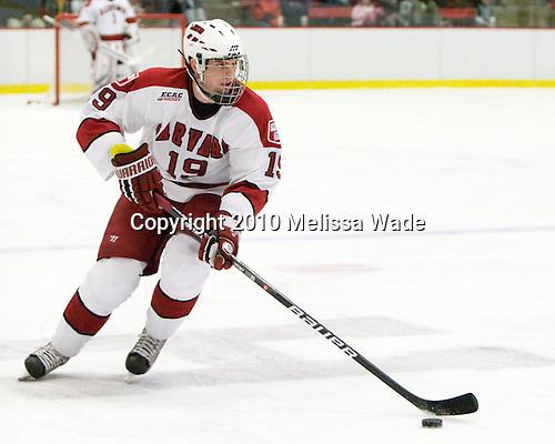 Alex Killorn (Harvard - 19) - The Colgate University Red Raiders defeated the Harvard University Crimson 4-2 (EN) on Saturday, February 20, 2010, at Bright Hockey Center in Cambridge, Massachusetts.