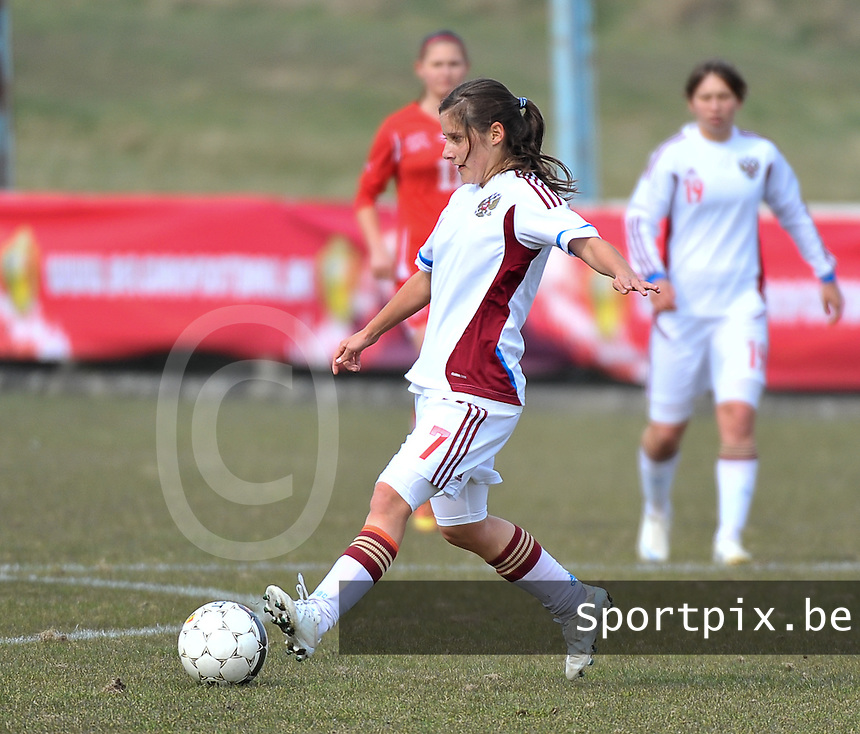 Switzerland U19 - Russia U19 : Anastasia Konyukhova.foto DAVID CATRY / Nikonpro.be
