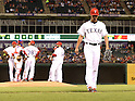 Yu Darvish (Rangers),<br /> APRIL 28, 2014 - MLB :<br /> Pitcher Yu Darvish of the Texas Rangers is pulled by manager Ron Washington #38 in the fourth inning during the Major League Baseball game against the Oakland Athletics at Globe Life Park in Arlington in Arlington, Texas, United States. (Photo by AFLO)