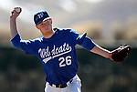 Western Nevada's Cody Hamlin pitches in a college baseball game against Salt Lake Community College, in Carson City, Nev., on Friday, March 1, 2013. SLCC won the first game 3-2. .Photo by Cathleen Allison