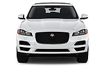 Car photography straight front view of a 2019 Jaguar F-Pace Prestige 5 Door SUV Front View