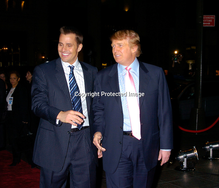 "Bill Rancic and Donald Trump ..at ""The Apprentice"" finale Party on April 15, 2004 at Trump Tower. Photo by Robin Platzer, Twin Images"