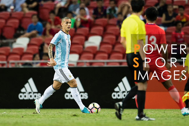 Leandro Paredes of Argentina in action during the International Test match between Argentina and Singapore at National Stadium on June 13, 2017 in Singapore. Photo by Marcio Rodrigo Machado / Power Sport Images