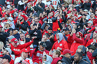 College Park, MD - November 12, 2016: Ohio State Buckeyes fans celebrate during game between Ohio St. and Maryland at  Capital One Field at Maryland Stadium in College Park, MD.  (Photo by Elliott Brown/Media Images International)