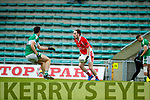 Jason Hickson West Kerry in action against Jamie O'Sullivan Legion in the Quarter Final of the Kerry Senior County Championship at Austin Stack Park on Sunday.