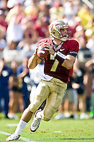 October 31, 2009:    Florida State quarterback Christian Ponder (7) drops back to pass during Atlantic Coast Conference action between the North Carolina State Wolfpack and Florida State Seminoles at Doak Campbell Stadium in Tallahassee, Florida.