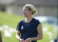 Kansas City, MO - Saturday July 16, 2016: Alex Arlitt prior to a regular season National Women's Soccer League (NWSL) match between FC Kansas City and the Washington Spirit at Swope Soccer Village.