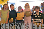 Competiting at the Farm Skills competition at Sneem Family Festival are from Left: Eleanor O'Brien, Kevin Foley,  Christopher Wallace, Leah Cartridge and Declan O'Brien