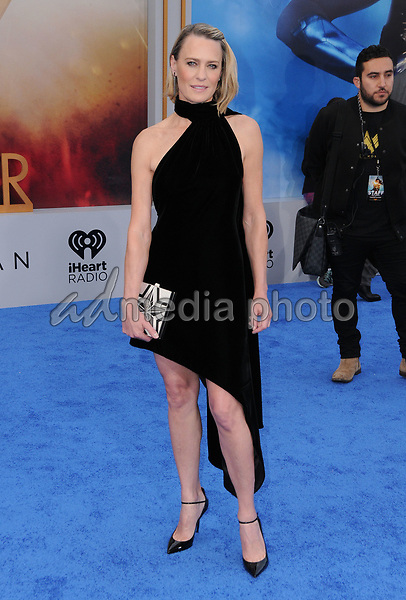 """25 May 2017 - Hollywood, California - Robin Wright Penn. World  Premiere of Warner Bros. Pictures'  """"Wonder Woman"""" held at The Pantages Theater in Hollywood. Photo Credit: Birdie Thompson/AdMedia"""