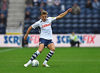 Preston North End's Brad Potts<br /> <br /> Photographer Dave Howarth/CameraSport<br /> <br /> The Carabao Cup Second Round - Preston North End v Hull City - Tuesday 27th August 2019  - Deepdale Stadium - Preston<br />  <br /> World Copyright © 2019 CameraSport. All rights reserved. 43 Linden Ave. Countesthorpe. Leicester. England. LE8 5PG - Tel: +44 (0) 116 277 4147 - admin@camerasport.com - www.camerasport.com
