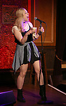"Lauren Marcus from the cast of ""The Jonathan Larson Project"" during the press preview on October 3, 2018 at Feinstein's/54 Below in New York City."