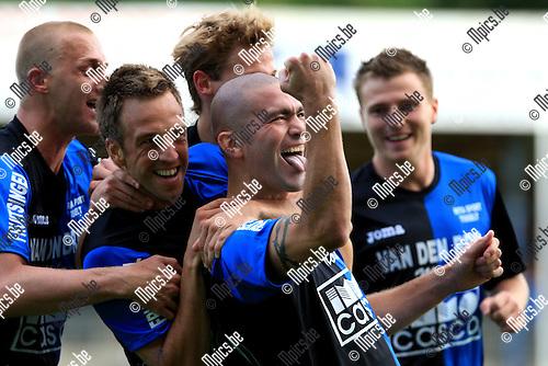 2010-08-18 / Voetbal / seizoen 2009-2010 / Rupel-Boom - KV Tienen / Jerry Poorters scoorde de 1-0..Foto: Mpics