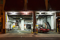 Urban parking garage.