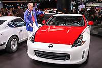 Nova York (EUA), 17/04/2019 - Sal&atilde;o do Autom&oacute;vel / Peter Brock -<br />  Peter Brock, 2020 apresenta o Nissan 370Z no Sal&atilde;o internacional do autom&oacute;vel de New York no centro de conven&ccedil;&atilde;o de Jacob K Javits o 17 de abril de 2019 em New York City. Milhares de entusiastas de autom&oacute;veis, concession&aacute;rios, jornalistas e outros v&atilde;o participar do evento que &eacute; um dos maiores espet&aacute;culos de autom&oacute;veis na Am&eacute;rica. (Foto: Vanessa Carvalho/Brazil Photo Press)